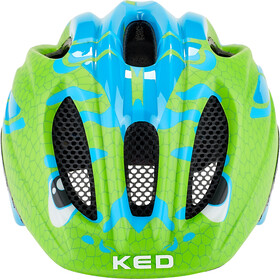 KED Meggy II Trend Fietshelm Kinderen, dino light blue green